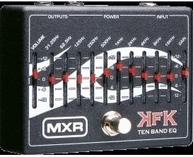 MXR KFK1 PEDALE EQ 10 Bandes Kerry KING (Alim 18V fournie)
