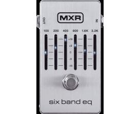 MXR M109S - Pédale d'égalisation graphique 6 bandes, argent (modèle 2018)