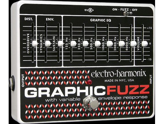 ELECTRO-HARMONIX Graphic Fuzz - EQ/Distortion/Sustainer - Série XO (Alim 9.6DC-200 fournie)
