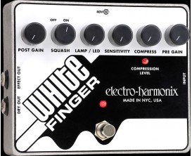 ELECTRO-HARMONIX White Finger - Analog Optical Compressor - Série XO (Alim 40DC-100 fournie)