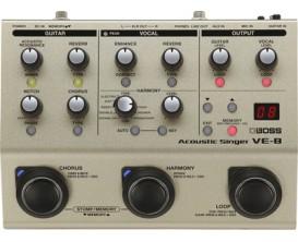 BOSS VE-8 Effets guitare acoustique, effets voix, harmoniseur et loopeur.
