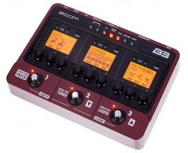 ZOOM B3 - Multi-effets Basse avec interface audio USB