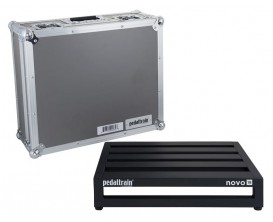 PEDALTRAIN PT-N18-TC Novo 18 TC - Pedalboard 45.7x36.8x8.9 cm, avec Tour Case
