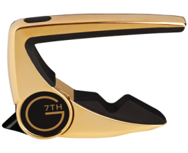G7TH Performance 2 Capo 6 cordes Steel (Curved) Placage or 18k