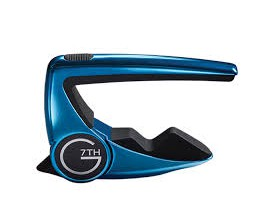 "G7TH Performance 2 BL - Capo 6 cordes Steel (Curved), série limitée ""Blue Limelight"""