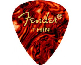 FENDER 0980351700 - 351 Pickpack, lot de 12 médiators Thin, Shell (type écaille)