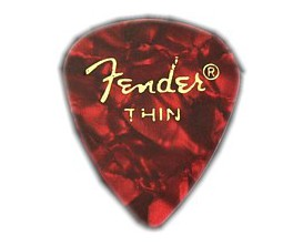 FENDER 0980351709 - Pickpack, lot de 12 médiators Thin, Red Moto