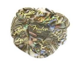 FENDER 0980351757 - Pickpack, lot de 12 médiators Thin, Abalone