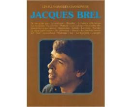 LIBRAIRIE - Les Plus Grandes Chansons de Jacques Brel (Piano, chant, guitare) - Ed. Carisch