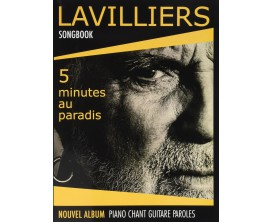 Lavilliers Songbook 5 Minutes Au Paradis (Piano, Voix, Guitare) - Patrick Moulou Book makers