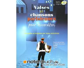 LIBRAIRIE - Valses et Chansons Parisiennes pour Accordéon (Avec CD) - Manu Maugain - Ed. Lemoine