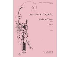 LIBRAIRIE - Antonin Dvorak - Slavische Tanze Heft 1 Opus 72 - Simrock original Edition