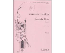 LIBRAIRIE - Antonin Dvorak - Slavische Tanze Opus 72 Band 2 - Simrock original Edition