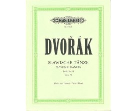 LIBRAIRIE - Dvorak Slawische Tanze Vol. 2 Opus 72 - Piano 4 mains - Ed. Peeters