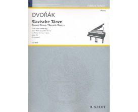 LIBRAIRIE - Dvorak Slavische Tanze Opus 72 - Piano 4 mains - Ed. Schott