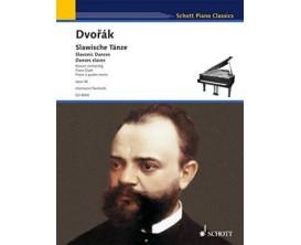 LIBRAIRIE - Dvorak Slawische Tanze (Piano à quatre mains) OP. 46 (Ed. 9004) - Ed. Schott