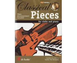 LIBRAIRIE - Classical Pieces for Violin and Piano - Gunter Van Rompaey - De Haske, Hal Leonard