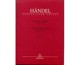 LIBRAIRIE - Handel Eleven Sonates for Flute and Basso Continuo - Barenreiter