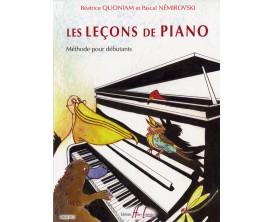 LIBRAIRIE - Les Leçons de Piano, B.Quoniam et P.Némirovski - (Ed. Lemoine)