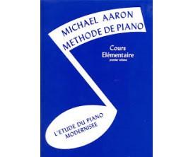Méthode de Piano Cours Elémentaire Premier Volume, M.Aaron - (Ed. Alfred)