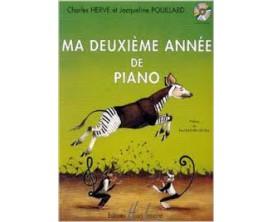 LIBRAIRIE - Ma deuxième année de Piano - C. Hervé J. Pouillard (Ed. Lemoine)