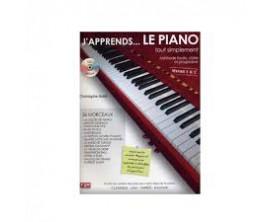 LIBRAIRIE - J'apprends... Le Piano tout simplement Vol.1 (Nveau 1 & 2 avec CD) - Ch. Astié - F2M Editions