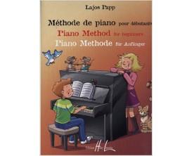 LIBRAIRIE - Méthode de piano pour débutanta - Lajos Papp - Editions Lemoine