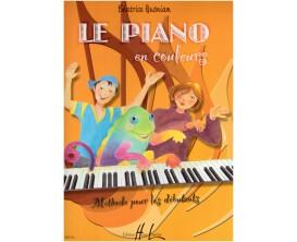 LIBRAIRIE - Le Piano en Couleurs - Méthode pour les Débutants - B. Quonian - Ed. Lemoine