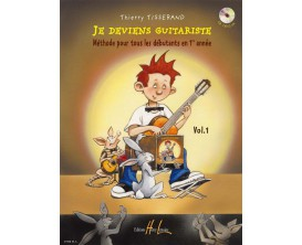 Je Deviens Guitariste vol.1 avec CD, T.Tisserand - (Ed. Lemoine)