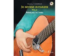 Je deviens guitariste Vol. 2 - Méthode pour 2e et 3e année - T. Tisserand - Ed. Lemoine