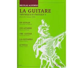 LIBRAIRIE - La Guitare Théorique et Pratique 1 - edition 1990 - Nicolas Alfonso (Ed. Schott)