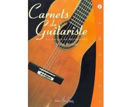 LIBRAIRIE - Carnets du Guitariste Vol. 2 - Technique et Répertoire - Yvon Rivoal - Ed. Lemoine
