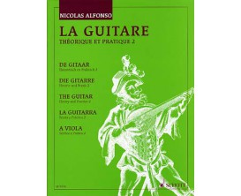 LIBRAIRIE - La Guitare Théorique et Pratique 2 - edition 1990 - Nicolas Alfonso (Ed. Schott)