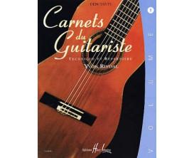 LIBRAIRIE - Carnets du Guitariste Vol. 1 - Technique et Répertoire - Yvon Rivoal - Ed. Lemoine