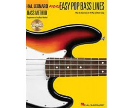 LIBRAIRIE - Méthode Basse - More Easy Pop Bass Lines (avec CD) - Hal Leonard