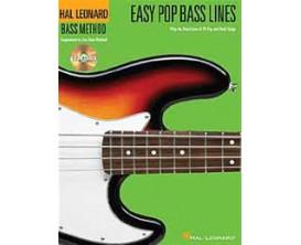 LIBRAIRIE - Méthode Basse - Easy Pop Bass Lines (avec CD) - Hal Leonard