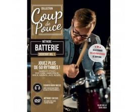LIBRAIRIE - Coup de Pouce Débutant Batterie, avec DVD - D.Roux et Silvio Biello - Ed. Carisch
