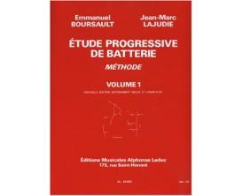 LIBRAIRIE - Etude Progressive de Batterie Vol. 1 - E. Boursault / J.M. Lajudie - Ed. Alphonse Leduc