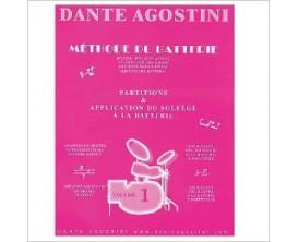 LIBRAIRIE - Méthode de Batterie Dante Agostini Vol. 1 - Ed. Dante Agostini