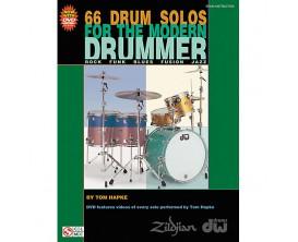 LIBRAIRIE -66 Drum Solos for the Modern Drummer (Avec DVD) - Tom Hapke