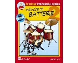 LIBRAIRIE - Méthode de Batterie 2 (Avec CD) - G. Bomhof - De Haske