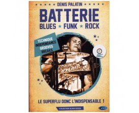 Batterie Blues/Funk/Rock (Avec CD) - Denis Palatin - Carisch Music