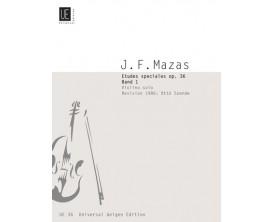 LIBRAIRIE - J. F. Mazas - Etudes Spéciales Op. 36 Band 1 - Violino Solos - Universal Edition