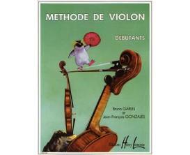LIBRAIRIE - Méthode de Violon pour Débutants - B. Garlej & J.F. Gonzales - Ed. Lemoine