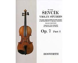 LIBRAIRIE - SEVCIK Vilon Studies OP. 7 Part 2 - Bosworth