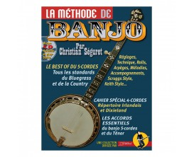 La Méthode de Banjo (Avec CD) - Christian Séguret - Ed. Rébillard