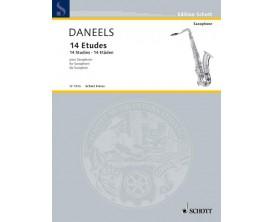 LIBRAIRIE - Daneels 14 Etudes pour Saxophone - Schott Frères