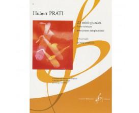 LIBRAIRIE - 23 Mini-puzzles - Etudes Techniques pour jeunes saxophonistes - H. Prati - Ed. Billaudot
