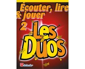 LIBRAIRIE - Méthode Sax Alto/Baryton Ecouter Lire & Jouer Vol. 2 - Les Duos - Ed. De Haske