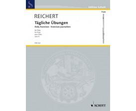 LIBRAIRIE - Reichert Exercices Journaliers (Flûte Traversière) Opus 5 FTR 102 - Ed. Schott